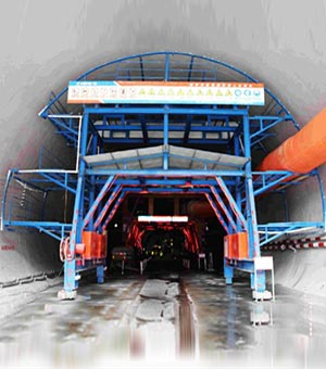 Tunnel concrete maintenance formwork